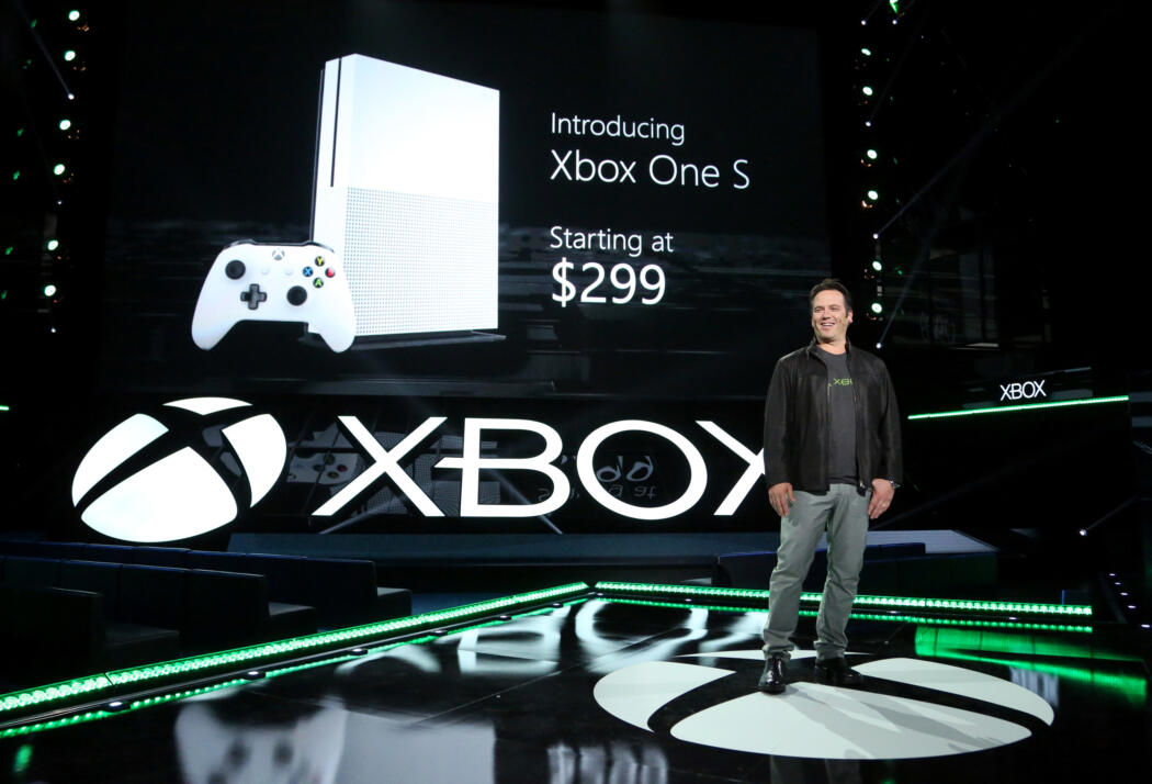 Courtesy Microsoft – A speaker is seen at the Xbox E3 2016 Briefing Rehearsal on Sunday, June 12, 2016 in Los Angeles. (Credit: Casey Rodgers/Invision for Microsoft/AP Images)